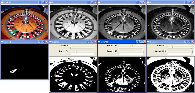 Opencv roulette