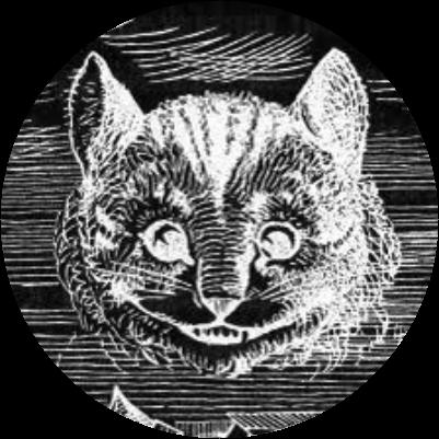 Круглая маска на картинку Чеширского кота