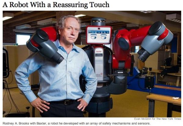 Rodney Brooks и робот Baxter