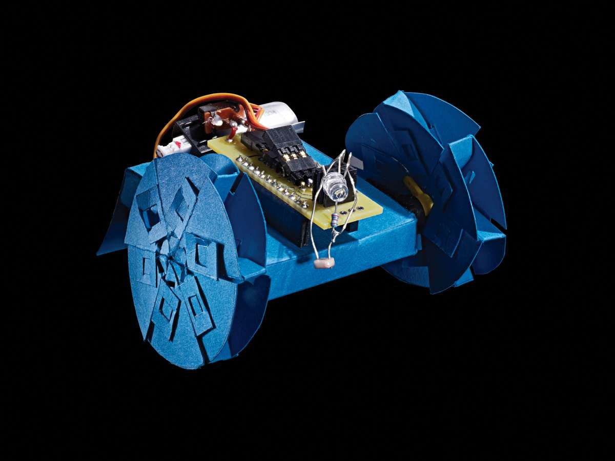 Arduino робот из бумаги