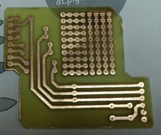кусок панельки для микросхемы