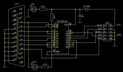 Программатор RT809F Универсальный программатор ISP AVR