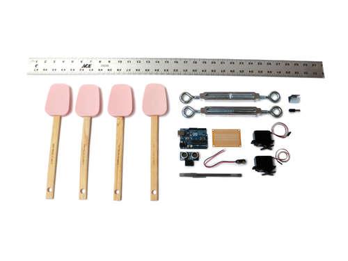 составные части простого шагающего робота на Arduino