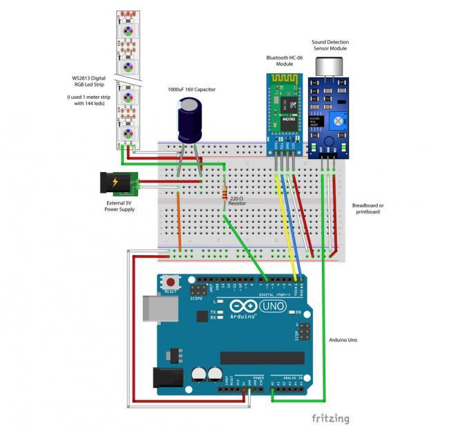 Бесконечное зеркало с цветовыми эффектами под управлением Arduino