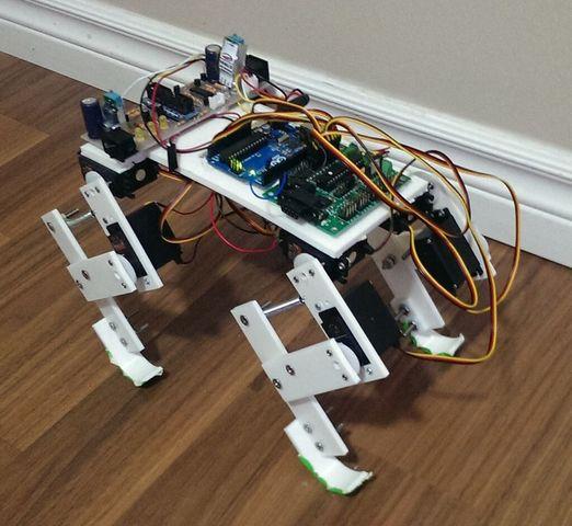 Четвероногий робот на Arduino