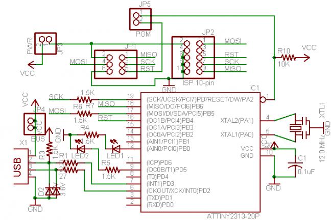 Ниже схема программатора.