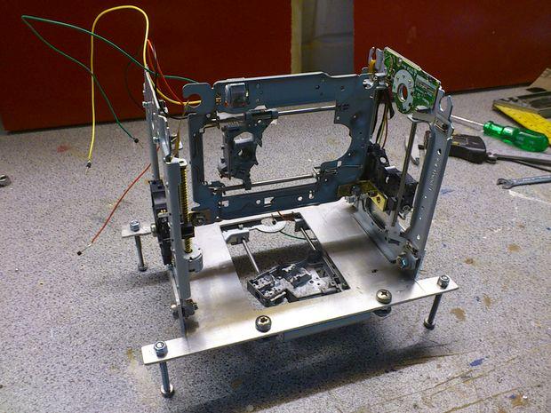 3D-принтер из старых DVD