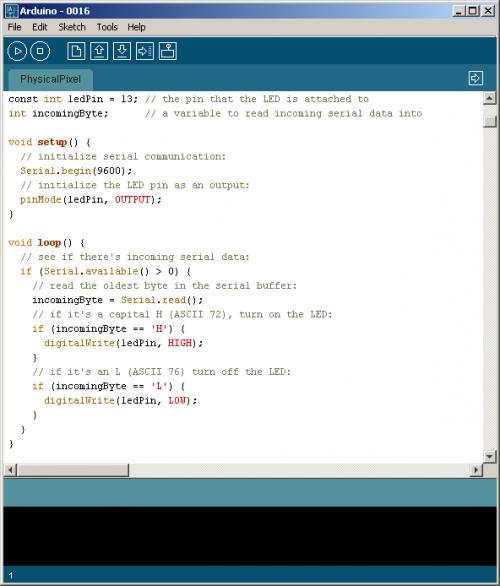 Arduino IDE - структура программы