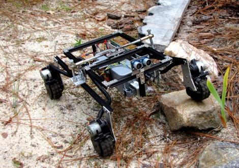 Шасси робота из MicroRax и мотор-редукторов от Roomba