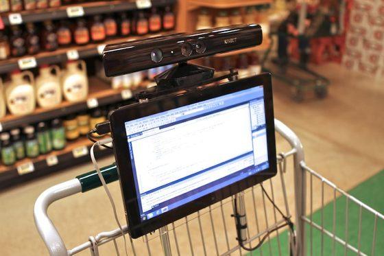 Роботизированная тележка для супермаркета