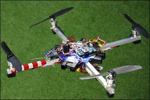 ArduIMU - четырёх-моторный вертолёт на Arduino