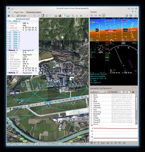 Скриншот модуля управления с наземной станции