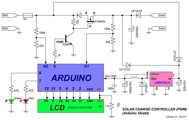 Схемы контроллера для солнечной батареи своими руками 180