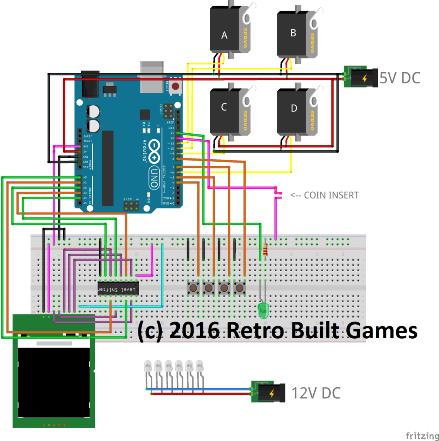 Схема вендингового аппарата на Arduino