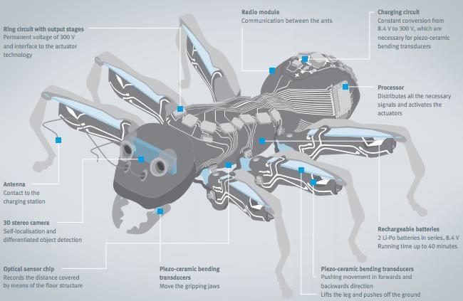 устройство робота-муравья
