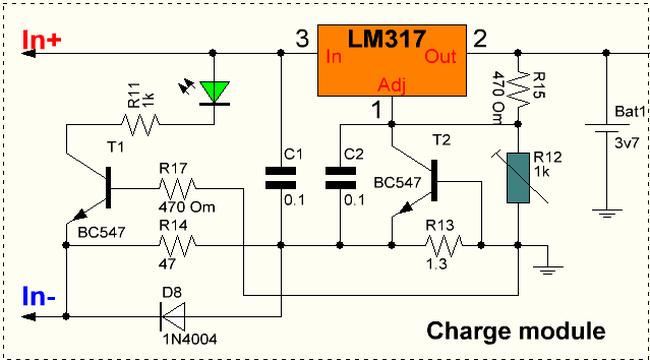 Схема для отключения зарядного устройства от сети