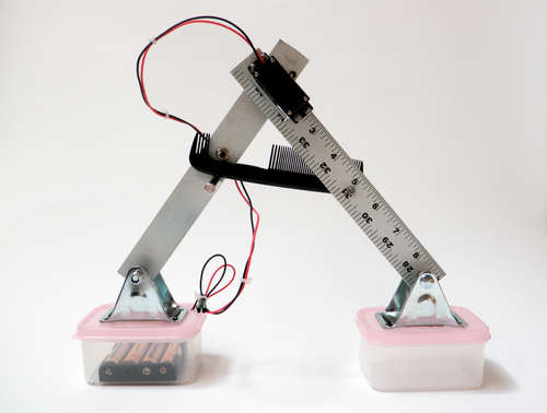 робот на одной сервомашинке