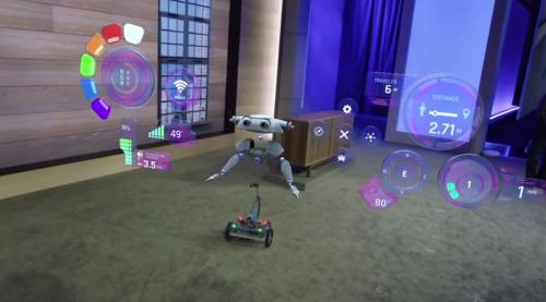 виртуальный интерфейса робота на Microsoft HoloLens