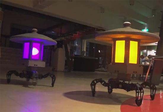 садовые роботы-светильники