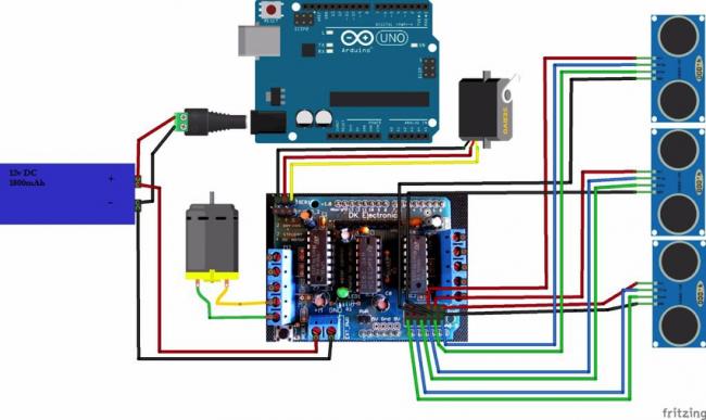 Схема соединения компонентов робота