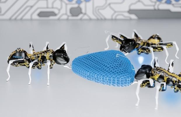 совместная работа роботов-муравьёв